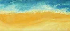 31 long strip of yellow sand with lifeguard station on the seashore.