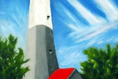 35 oil painting of lighthouse.