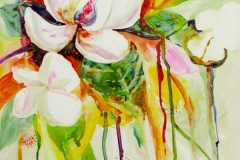 05 colorful collage of magnolias by artist Dianne Garner.