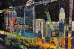 63 collage-esque abstracted nighttime cityscape.