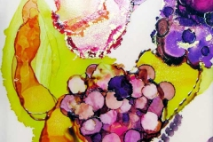 69 purple and magenta watercolor flower.