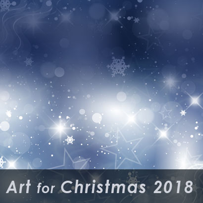 art for christmas 2018 with star background