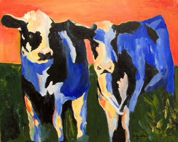 Darlene Godfrey - Blue Cows