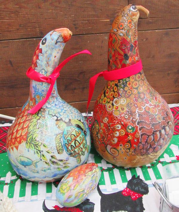 Darlene Godfrey-  Gourd Birds
