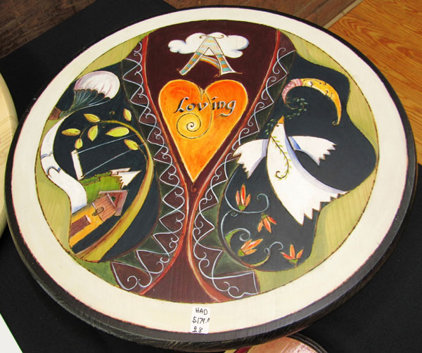 Hilde Deprez - Painted Lazy Susan