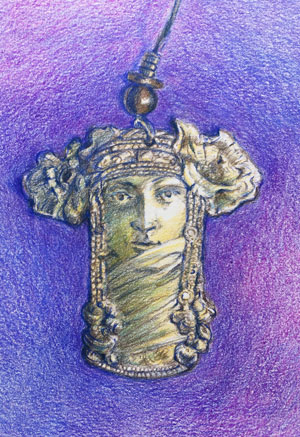 Art Nouveau Earring by Lori McAdams