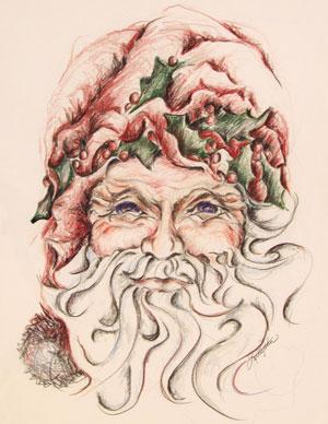 Santa I by Janet L Kaufman