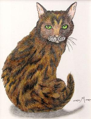 Tortoiseshell Cat by Jennifer-McGinnis