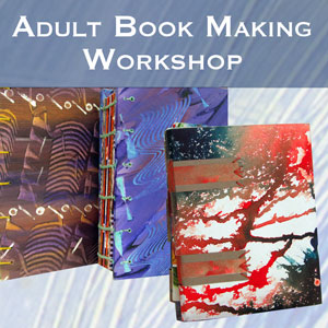 3 paste paper books made of hand-pasted papers