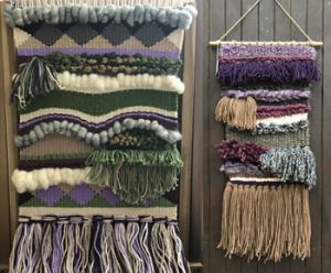 woven wall hangings by artist Marie Lafitte