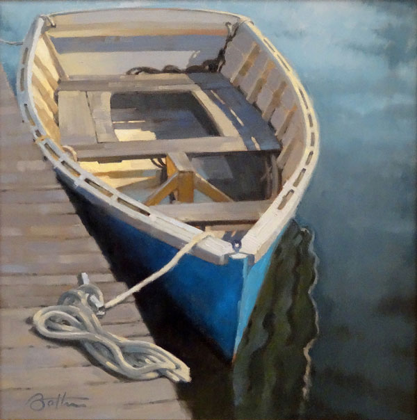 oil painting of row boat by Todd Baxter