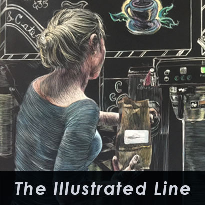 the Illustrated Line exhibit at Southern Arts Society on view Jan 21 - Feb 28 2020.