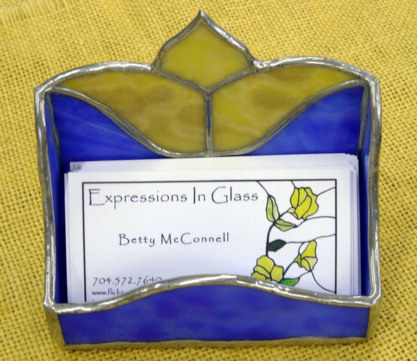 Betty McConnell - card-holder - glass