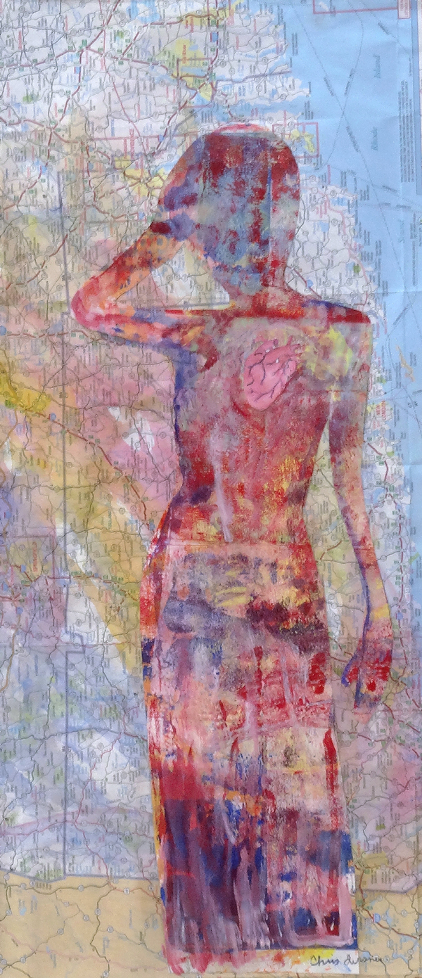 Chris Tessnear - Travelers Heart - mixed media