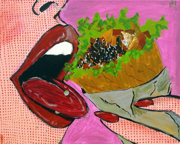 Genevieve Kara Tefft - Boca Loca - acrylic