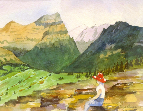 Hazel Pearce - Meditating - watercolor