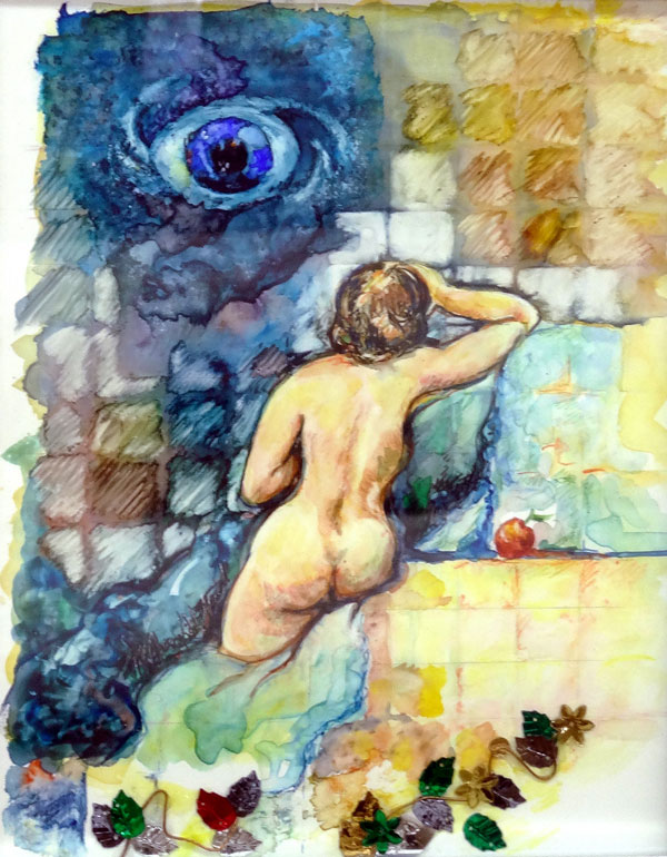 MC Churchill Nash - The Eye Evolution of Eve - watercolor