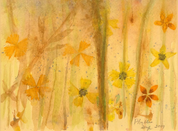 Phyllis Frye - Woods and Flowers - watercolor