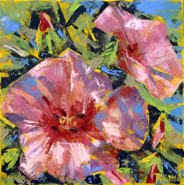 Rosie Little - Hibiscus Perfect Worman - oil