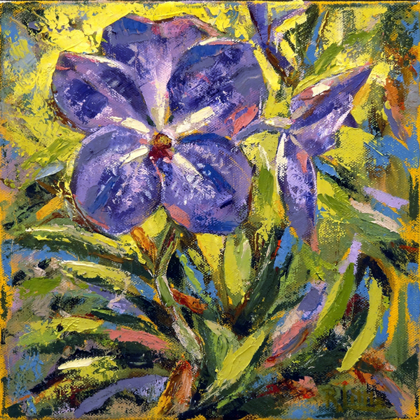 Rosie Little - Orchid Love - oil