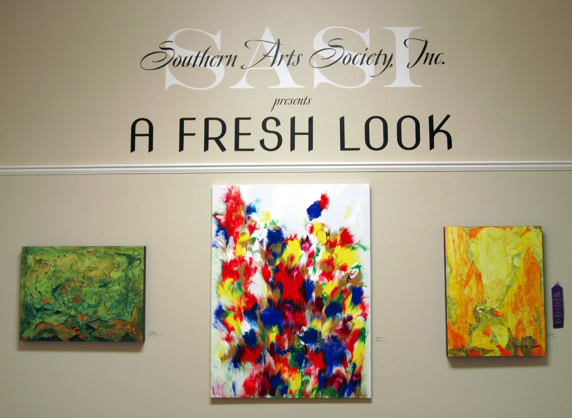 entrance into A Fresh Look 2020 Exhibit