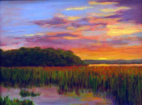 "Oil painting ""Sunset"" by Isabelle Griesmyer."