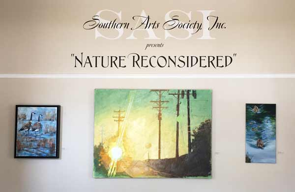 entry to galleries showing Nature Reconsidered and Trail at Southern Arts Society.
