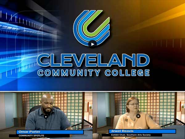 Cleveland Community College with Omar Porter and Jewel Reavis.