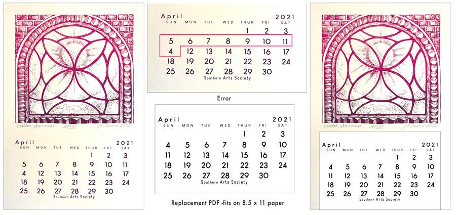 error in dates on April 2021 page.