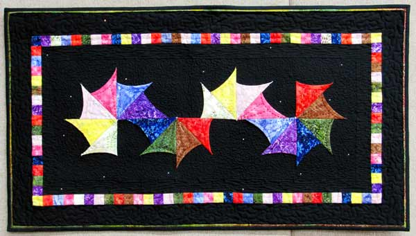 Carol McLaughlin, Beaded Aura, quilted wall hanging
