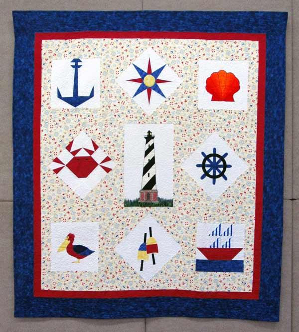Carol Mclaughlin, Carolina Nautical, quilted wall hanging