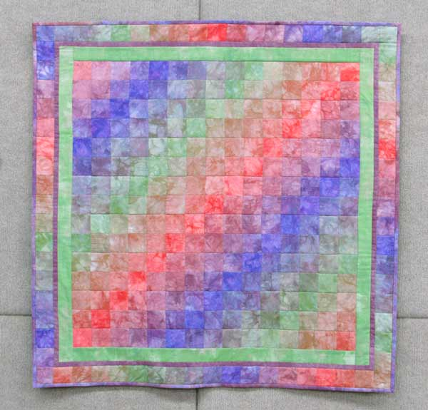 Carol Mclaughlin, Quadratic Haze, quilted wall hanging