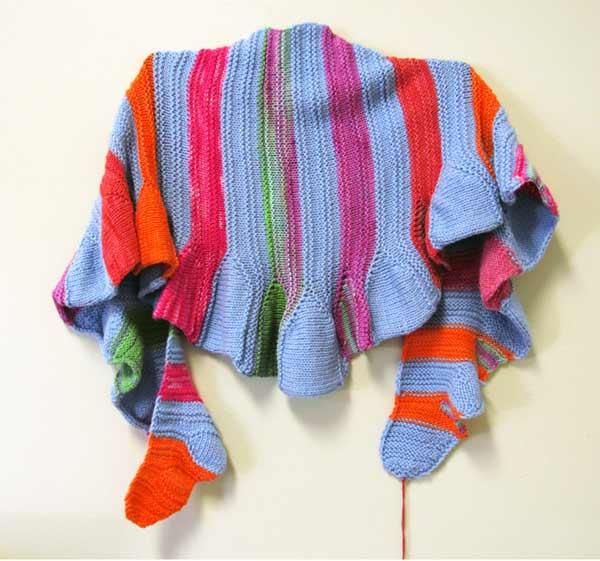 Chris Dunlap, Many Colored Caterpillars, shawl