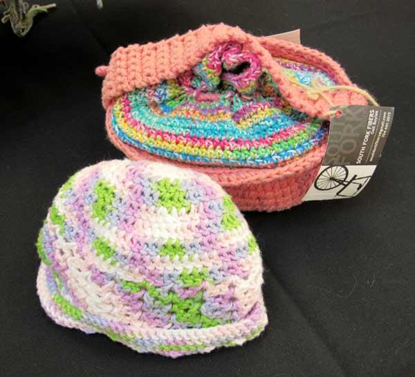 Gail Boyles, hat, lunch pail