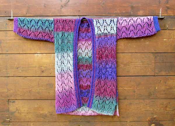 Linda Erickson, Lace Knit Kimono, knitting