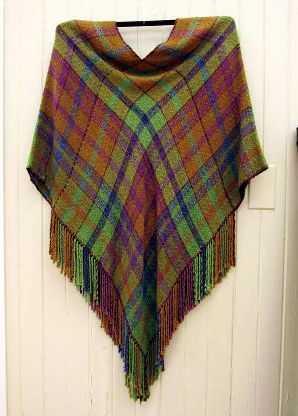 Sue Helmken, Herb Garden, seemless poncho, weaving