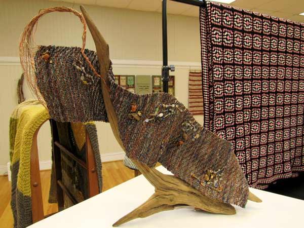 Sue Helmken, Mountain Stream, wire weaving