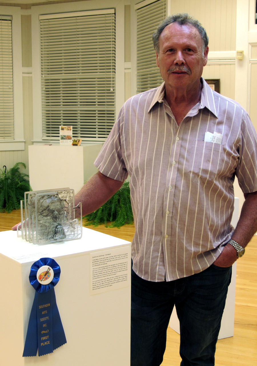 1st Place Fred Mead glass work