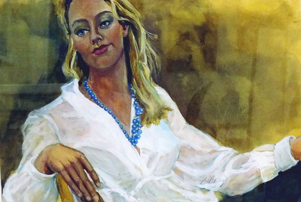 Barbara ONeal Davis - Wishful Thinking - watercolor