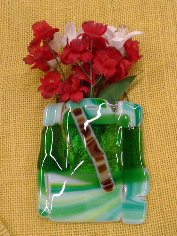 Betty McConnell - wall pocket - glass