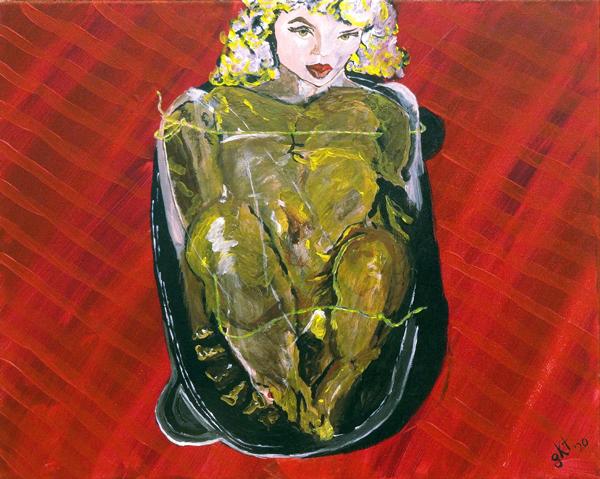 Genevieve Kara Tefft - Finger Licking Good - acrylic