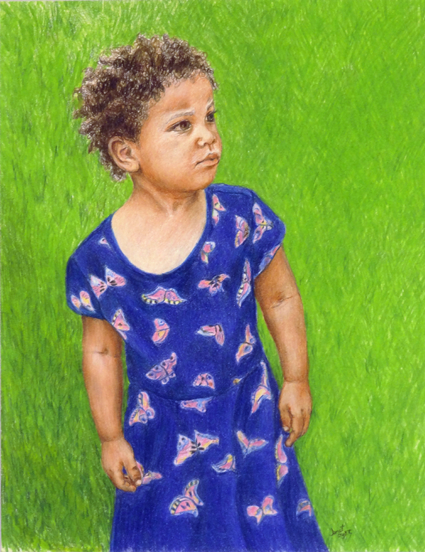 Janet Dyer - Watch Out World Here I Come - color pencil