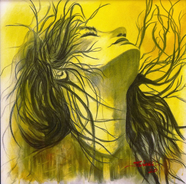 Shelly Brown - Free - charcoal acrylic