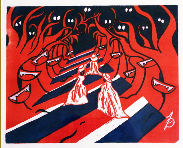 Zoe Leigh Turner - Witches Watching - printmaking